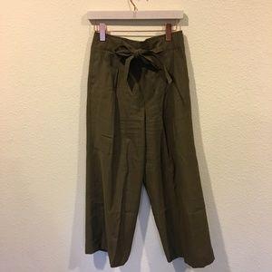 NWT Madewell green tie high waisted pants